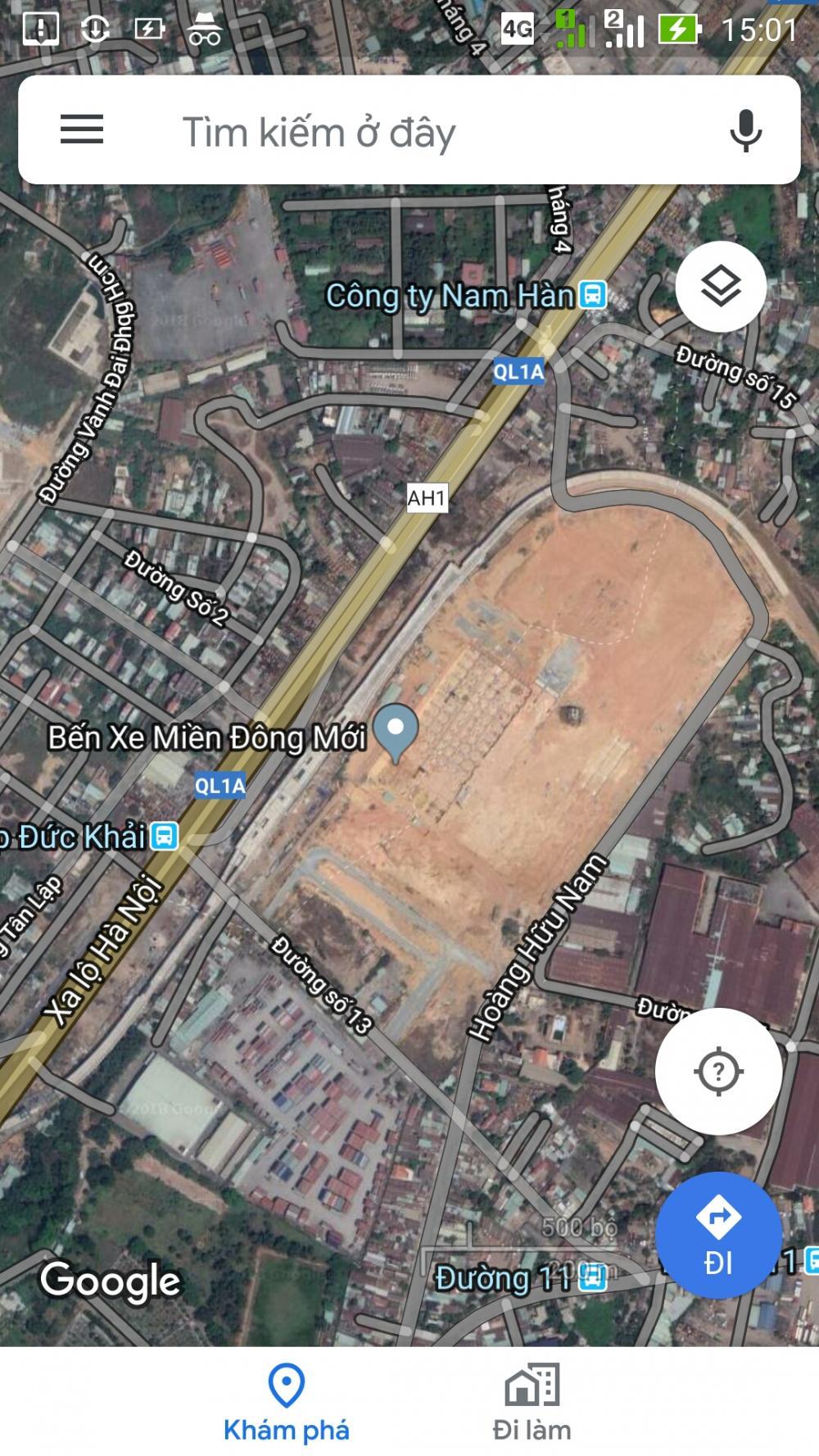 Bán kho bãi MT Xa Lộ Hà Nội, đối diện BXMĐ. DT 3000m2, giá 85,9 tỷ 9718264