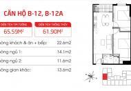 Nhượng lại suất ngoại giao CC Hateco Hoàng Mai, tầng 1012, DT 61m2, vào tên HDMB, giá 16.8tr/m2