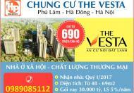 Nhận đơn đăng ký mua nhà ở xã hội the vesta hà đông giá từ 690 triệu/căn