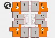 Bán căn 2PN chung cư Nam Xa La, diện tích 70,4m2, giá 14 triệu/m2