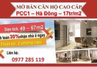 PCC1 Complex Hà Đông chỉ 350 triệu nhận nhà vào ở ngay