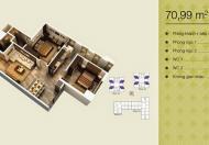 Chính chủ cần bán căn 12 - 70,99m2, căn 2PN, 2VS, căn hộ thiết kế đẹp, hợp lý