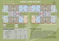 Bán cắt lỗ cc Thăng Long Victory giá 14tr/th, DN1, căn 03 tầng 16, S: 69.8m2. LH: 0962.543.992