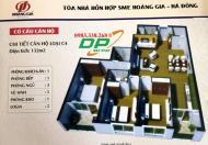Chính chủ bán chung cư SME Hoàng Gia, căn 15C4, DT 132m2, giá 16.5tr/m2. 0967728950