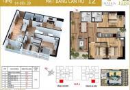 Chính chủ bán chung cư Imperia, căn góc 1512, DT 78,8m2, giá 32tr/m2. 0964046238