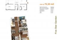 0989.218.798 cần bán căn 05 G5 = 72.2 m2/2PN chung cư Five Star – Kim Giang, giá 22.4 tr/m2