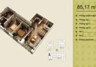 Cần bán căn 08 tòa V2 (85.17m2) căn 3PN, ban công Đông Nam, liên hệ 0963/565/236