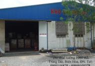 Bán kho, nhà xưởng 3500 m2 giáp đường Nguyễn Ái Quốc, Quốc Lộ 1K, Biên Hòa, Đồng Nai