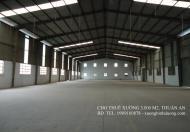 Cho thuê xưởng 15000m2, KV 25000m2, cách ngã tư Miếu Ông Cù 1 km, Bình Chuẩn, Thuận An, Bình Dương