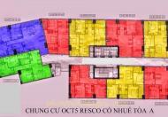 Chính chủ bán căn góc A05 chung cư OCT5 Cổ Nhuế, DT 73m2, 3 phòng ngủ, giá 22tr/m2