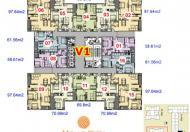 Chính chủ bán căn đẹp 7V1 Home City, Cầu Giấy diện tích 61.56m2/2PN/2WC
