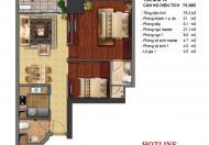 Times City bán căn hộ 2PN 75m2, sổ đỏ chính chủ, giá 2.720 tỷ bao phí- LH 0901772994