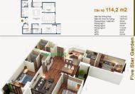 Giá rẻ, bán căn hộ 116m2 tòa G5 Five Star tầng 16, 3PN, 2WC. 0904666956