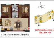 Bán căn 10 tầng 21 chung cư B1-B2 căn góc 67m2, hướng Nam khu Tây Nam Hồ Linh Đàm