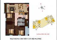 Bán suất ngoại giao căn hộ 06 tầng 9 chung cư B2 CT2 Tây Nam Linh Đàm - 96m2, ban công Đông Nam