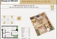 Chinh chủ cần bán gấp căn hộ 62.7m2 dự án Mỹ Sơn đường Nguyễn Huy Tưởng, giá 27.5 triệu/m2