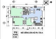 Bán căn góc 97m2 Đông Nam giá 32tr/m2 tại Sky Định Công, Hoàng Mai