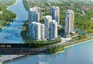 Bán 42tr/m2 căn Pool Villa Đảo Kim Cương, Quận 2, 641 m2, có hồ bơi, view sông Sài Gòn, cầu Phú Mỹ