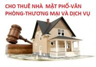 CHO THUÊ NHÀ PHỐ-VĂN PHÒNG-TTTM Ở HÀ NỘI VỚI GIÁ RẺ.LH 0986284034