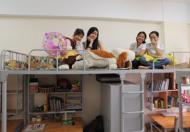 KTX dành cho các bạn nữ free điện nước net có máy giặt, tủ lạnh, điều hòa, giường, nệm kề Hutech