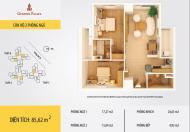 Bán căn 85m2 chính chủ tòa B CC Golden Palace Mễ Trì, 2PN, 2WC, miễn trung gian, LH 0964814641