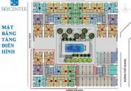 Phòng KD Sky Center, 15 suất đặc biệt Officetel- Shophouse- Căn hộ 2 và 3pn, đăng ký 0931821204