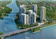 Biệt thự Pool Villa Đảo Kim Cương Q2. 363m2, sân vườn 275m2, 1 trệt, 1 lầu, mặt tiền sông Sài Gòn