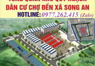 Hot, chỉ với 189 triệu/lô sở hữu ngay đất shophouse tại chợ Song An, Thái Bình@