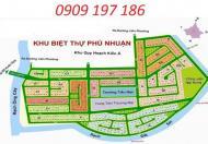 Bán đất nền KDC Phú Nhuận Q9, trục chính 20m. LH 0909.197.186