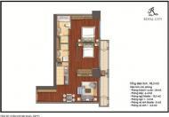 Chính chủ bán gấp căn 2 phòng ngủ, DT 96,3m2 chung cư Royal City
