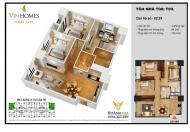 Bán lại căn góc số 02, 99,5m2, 3 phòng ngủ, Tòa T9 chung cư Times City, LH: 0968317986