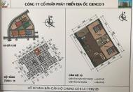 Cần bán căn 10 tầng 6 tòa HH02 2Chung cư Thanh Hà Cienco 5, giá gốc 9,5tr/m2