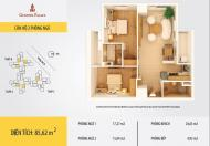 Bán căn 85m2 chính chủ tòa B CC Golden Palace Mễ Trì, 2PN, 2WC LH 0964814641