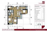 Bán căn 05 tầng đẹp tòa N01T3 Ngoại Giao Đoàn. DT 131.4m2, 3PN, 2WC, giá 27.5 tr/m2