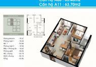 Cho thuê căn hộ Topaz Garden, DT: 63m2, 2PN, mới 100%, giá 7tr/th. LH: 0902.767.144