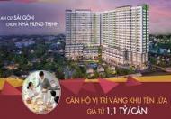 Hưng Thịnh bán 5 căn hộ đẹp nhất dự án quận Bình Tân giá chỉ 1,1 tỷ, nhiều ưu đãi