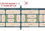 Cần tiền bán gấp lô đất diện tích 131m2, lô A khu Phú nhuận 2 mặt trong Trương Văn Bang. 0886511621
