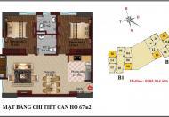 Bán suất ngoại giao căn góc 2102 B2 chung cư B1B2 Linh Đàm
