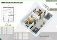 Cần bán nhanh căn hộ DT 58m2 Hà Đông thiết kế 2 phòng ngủ giá 990 triệu. Liên hệ 0904.529.268