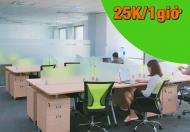Cho thuê chỗ ngồi làm việc giá rẻ tại Pearl Plaza chỉ với 25.000đ/ 1 giờ