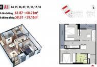 Chung cư Mỹ Đình, 2 phòng ngủ, 937tr, tặng kèm 3 điều hòa, LH: 0989 846 691