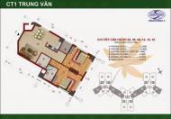 Tôi chính chủ cần bán gấp 02 căn hộ 72m2, 73m2 CT1 Trung Văn Vinaconex 3, 25tr/m2