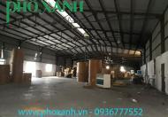 Cho thuê kho, nhà xưởng 2500 m2, 3000 m2 tại Kiến An, An Dương, Hải Phòng