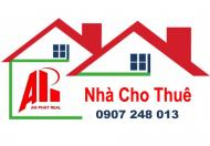 Cho thuê nhà 3 tầng kiệt ô tô đường Trương Chí Cương, gần đường 2/9. LH 0907 248 013