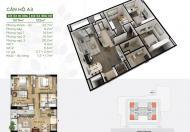 Căn góc 132m2 giá chỉ 25,8tr/m2 tại dự án Riverside Garden 349 Vũ Tông Phan, bảng giá CĐT tầng 18