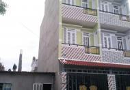 Nhà mới 1 trệt, 2 lầu, hẻm nhựa 8m, DT 4x14m, SHR
