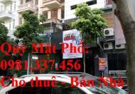 Cho thuê mặt phố Nguyễn Chánh 400m2, MT: 18m, 75 tr/th. 0981- 337- 456