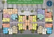 Bán căn hộ chung cư Five Star Kim Giang, căn tầng 1607 DT: 68m2 giá 23tr/m2. LH: 0934646229