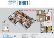 Cho thuê Căn góc 2 mặt tiền, 3 PN, hướng Đông Nam, tòa HH01 New Horizon 87 Lĩnh Nam !!