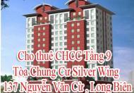 Cho thuê CHCC Tầng 9 ,Tòa Chung Cư Silver Wing 137 Nguyễn Văn Cừ , Long Biên, Hà Nội